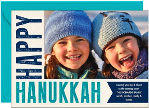 Happy Hanukkah Poster Photo Card