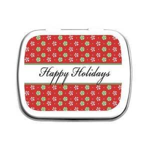 Happy Holidays Mint TIns