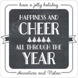 Holiday Coasters Chalkboard Holiday