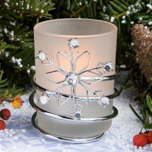 Jeweled Snowflake Votive Holders