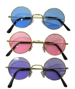 John Lennon Colored Sunglasses