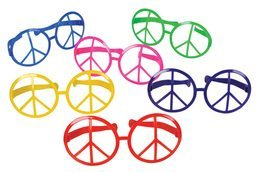 Jumbo Peace Sign Glasses
