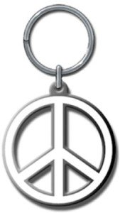 Key Chain Peace Sign Logo