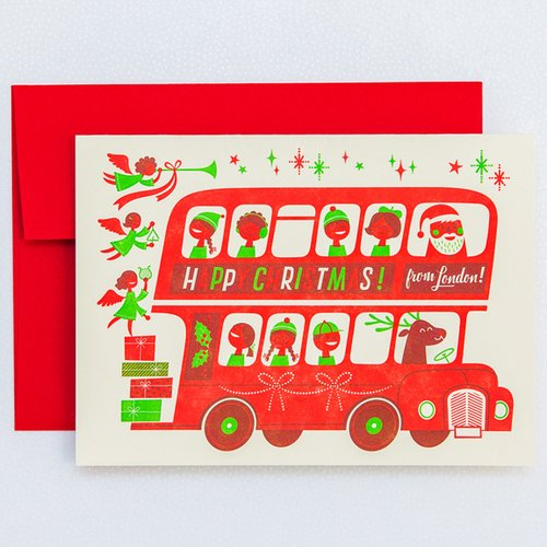 LONDON BUS Holiday Card