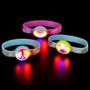 Light up Peace Sign Bracelet