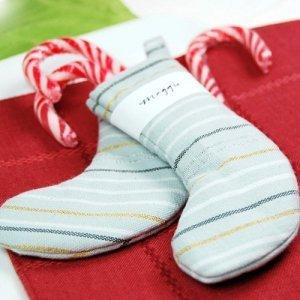 Metallic Striped Christmas Stockings