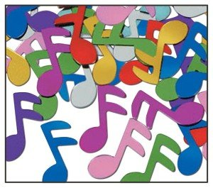 Multi-Color Musical Notes Confetti