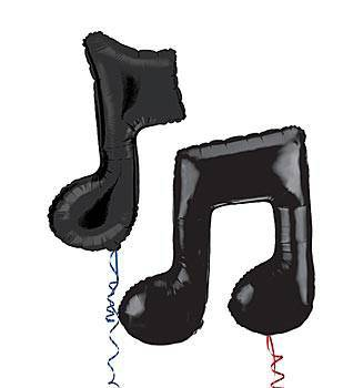 Music Note Mylar Balloons