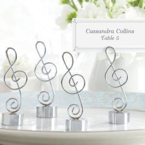 Music Note Place Card Photo Holder