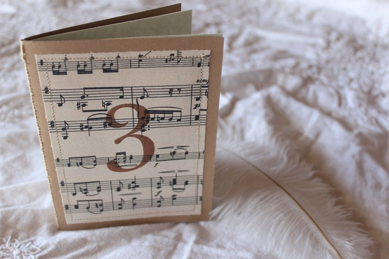 Music sheet guest book table numbers