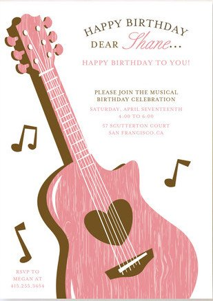 Music Birthday Party Invitations Gallery Invitation Templates Free
