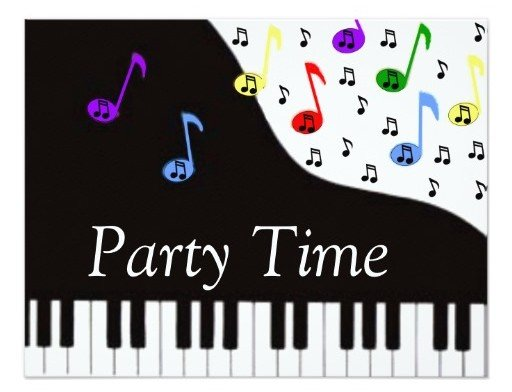 Party Time Music Invitations, Music Theme Party Planning, Ideas & Supplies
