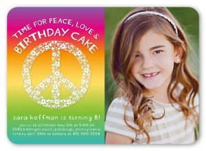 Peace Love Cake Birthday Invitation