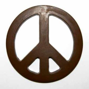 Peace Sign Chocolate