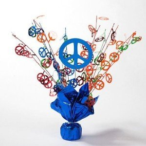 Peace Sign Sparkle Centerpiece