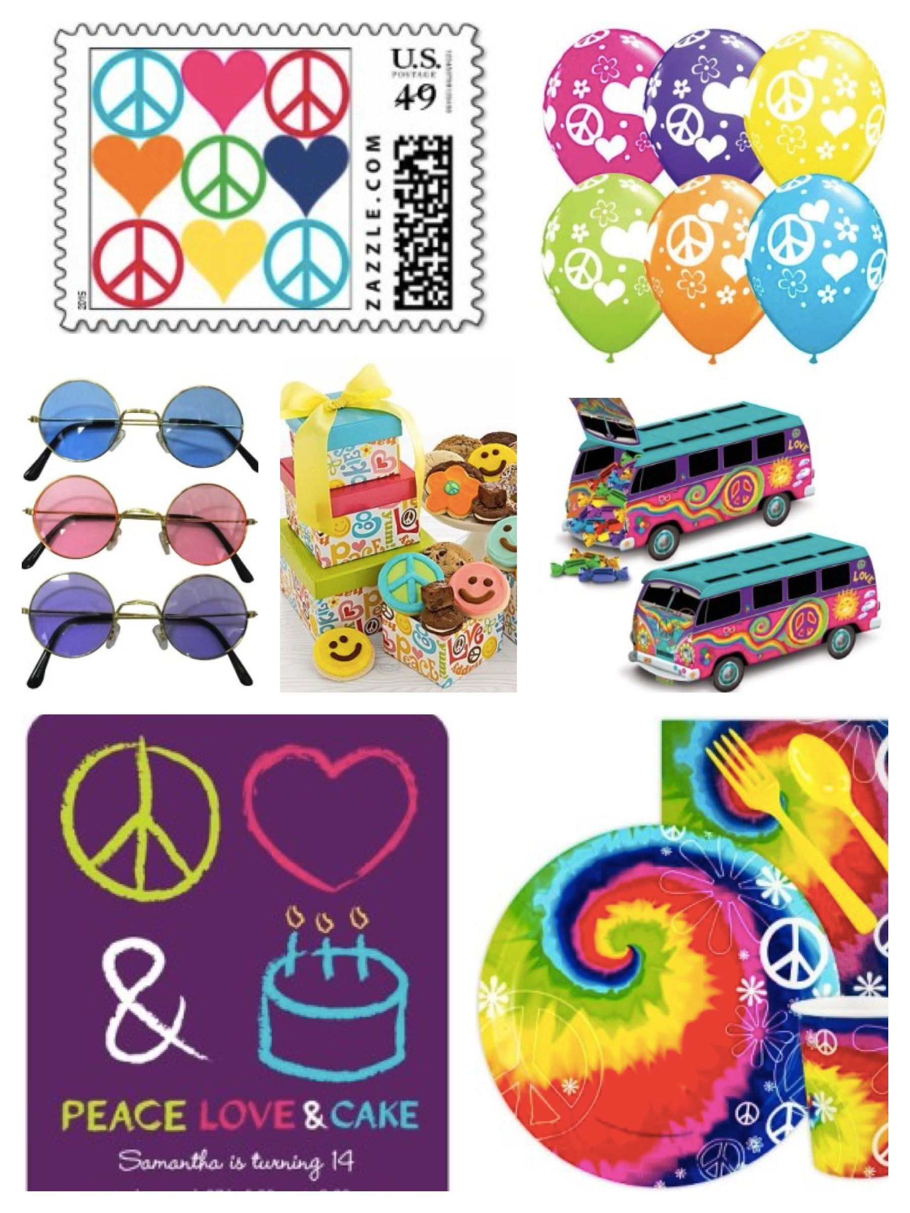 Peace and Love Party Theme, Ideas & Supplies