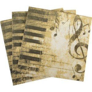 Piano Luncheon Napkin