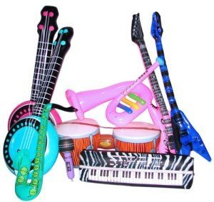Rock Band Inflatable Instrument Set