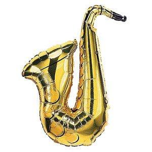 Saxophone Mylar Balloon