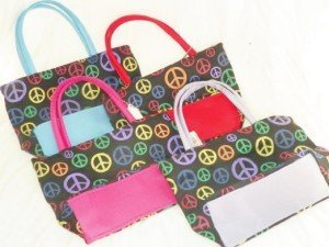 Small Colorful Peace Sign Purse