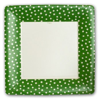 Small Dots Green Plates