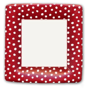 Small Dots Red Plates