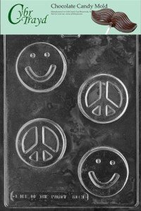 Smile Face:Peace Bar Chocolate Candy Mold