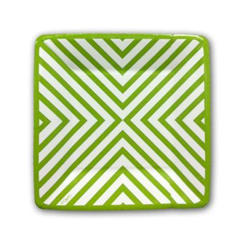 Chevron Green Plates