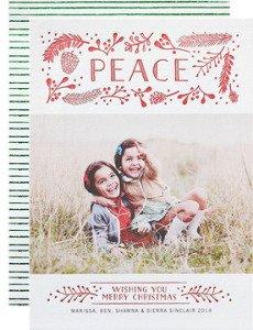 flourishing peace letterpress holiday cards