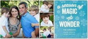 icy magic holiday photo cards