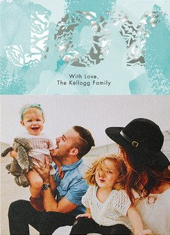 spectacular joy laser-cut holiday cards