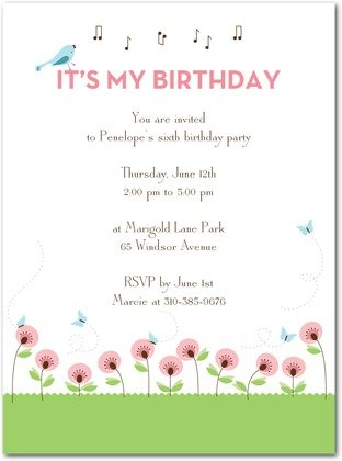 sweet melody birthday party invitations