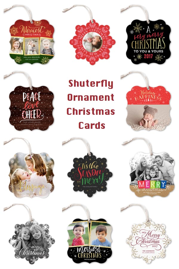 Shutterfly Ornament Chrstmas Cards