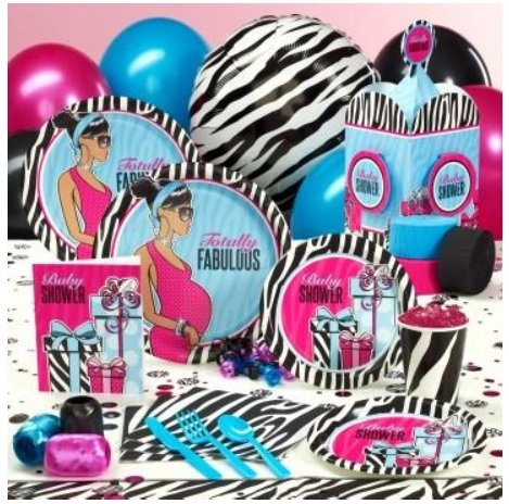 Baby Shower Zebra Party Kit