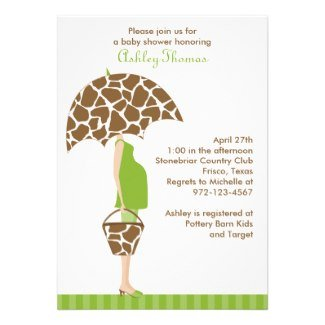 Chic Mom to be Safari Invite
