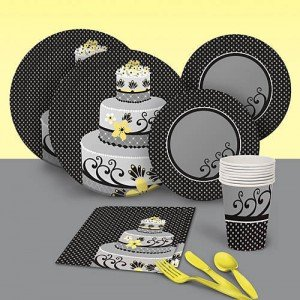 Chic Wedding Cake Party Paper Goods