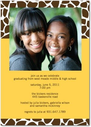 Giraffe Grad Invitation