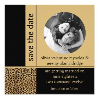 Leopard Print Save the Date