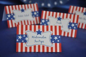 Patrioitic table cards