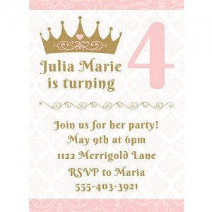 Pink Provincial Princess Personalized Invitations
