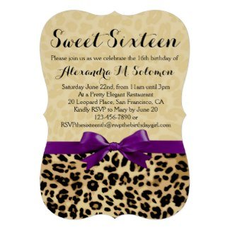 Safari Sweetr 16 Invite
