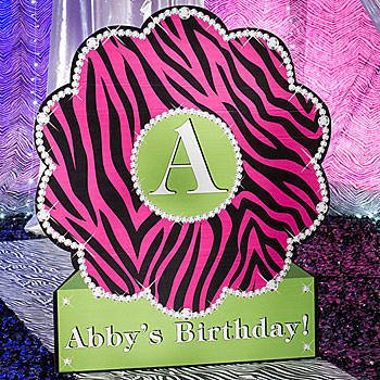 Stylish Zebra Personalized Standee