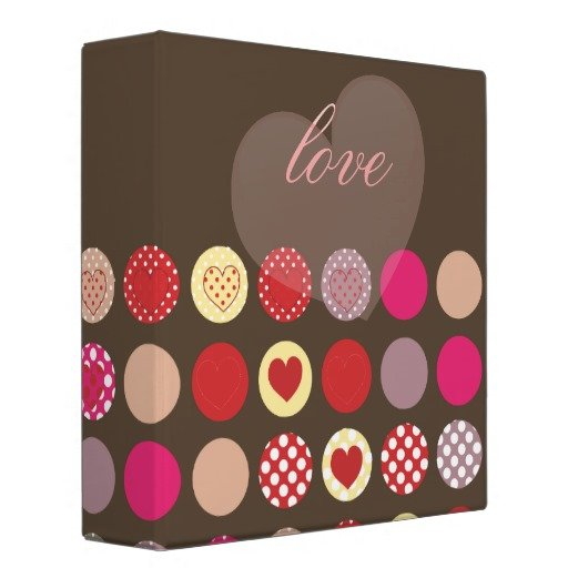 Valentine's day hearts binder