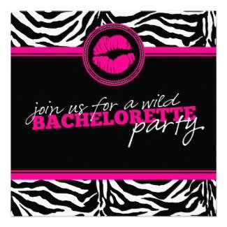 Zebra Bachelorette Party Invite