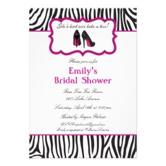 Zebra Bridal Shower