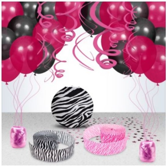 Zebra Party Decor