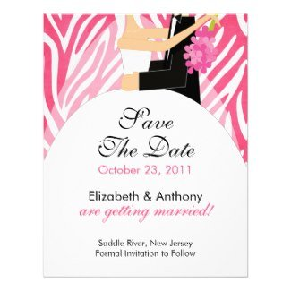 Zebra WeddIng Save the Date