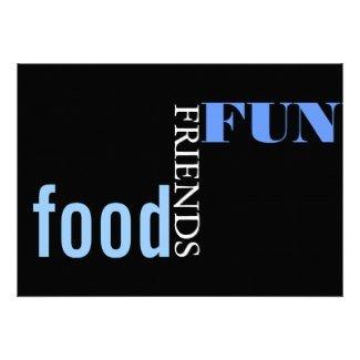 food friends fun party invitation