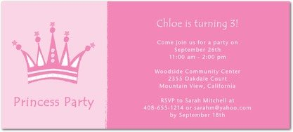 Posh Princess Birthday Party Invitations