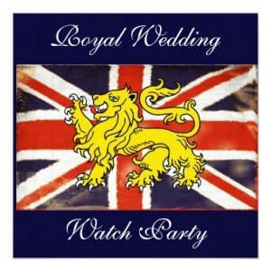 Wills & Kate Royal Wedding Watch Party Invitation, Royal Wedding Viewing Party